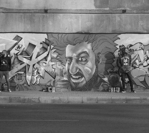 Graffiti Men Beirut